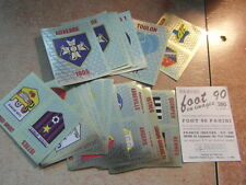 original FOOTBALL STICKERS PANINI FOOT 90 1990 FRANCE ECUSSONS  Voir liste