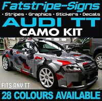 AUDI TT GRAPHICS CAMO STICKERS STRIPES DECALS BONNET ROOF CAMOUFLAGE 1.6 1.8 2.0