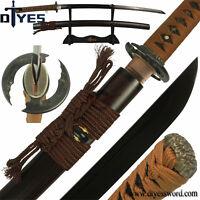 Handmade Black 1060 Carbon Steel Blade Japanese Samurai Katana Sword Razor Sharp