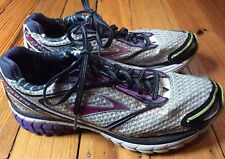 Brooks Ghost 7 Women's Running Shoes - Gray/Purple - Sz 7.5 - No Insoles