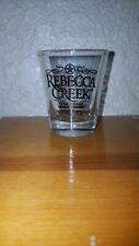 New listing Rebecca Creek Distillery Texas Logo Whiskey Bourbon Shot Glass Rare