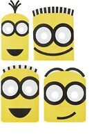 MINIONS DESPICABLE ME 3 PAPER MASKS PACK OF 8 PARTY FAVOURS SUPPLIES