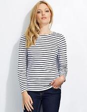 Gestreifte Damen-T-Shirts aus Baumwolle