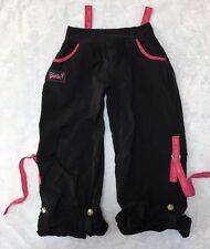 Black Zumba Party In Pink Breast Cancer Awareness Roll Up Cargo Pants Size L