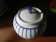 """passend zum Teeservice von """"Clou&Classic-blue"""":Zuckerdose;Porzellan,weiß-blau"""