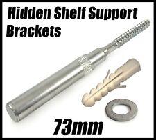 Concealed Hidden Shelf Support Brackets 73mm Invisible Mounting Floating Shelves
