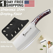 Kitchen Knife StainlessSteel Blade Home 7in Utility Chef Chopping Cooking Knives