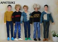 Handmade Casual Knitted Sweater For Ken Doll Boyfriend Top Clothes Male Doll Toy