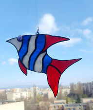 Stained Glass Suncatcher Fish  Handmade
