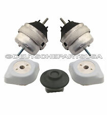 AUDI A4 QUATTRO VW PASSAT 1.8 L4 ENGINE + MOTOR + TRANSMISSION SNUB MOUNTS SET 5