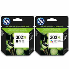 New  HP 302XL F6U68AE / F6U67AE Black and Colour Ink Cartridge Pack