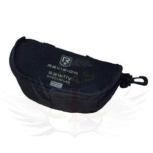 REVISION SAWFLY SAFETY SUNGLASSES PROTECTIVE BLACK NYLON MATERIAL CASE G1 & 2