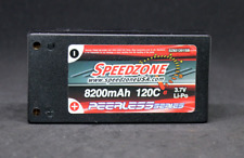 Speedzone 8200mAh 120C 1S 3.7V Hardcase Lipo Battery 1/12 WGT 4mm NEW