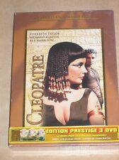 COFFRET 3 DVD / CLEOPATRE / LIZ TAYLOR / NOMBREUX BONUS / NEUF SOUS CELLO