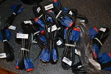 lot of 18 VGA Monitor Video Cable M/M Male To Male Samsung 15 PIN 5 feet