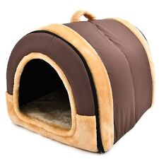 New 2 Way Pet Dog Cat Bed Puppy House Soft Cushion Cave for Medium Dog