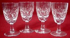 "WEBB CORBETT crystal INVERNESS pattern SHERRY GLASS 4"" set of FOUR (4)"