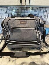 Biaggi Luggage Zipsak Expandable Wheeled Carry On Gray Black New
