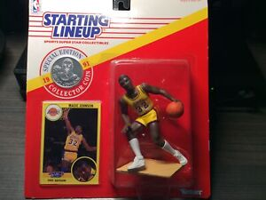 1991 NBA Starting Lineup Magic Johnson Los Angeles Lakers Action Figure Kenner