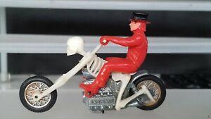 Mattel Hot Wheels RRRumblers Rumblers Motorcycle Bone Shaker Skeleton...1970's..
