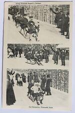 30404 AK AK König Friedrich August v. Sachsen und Anne auf Rodelbahn Oybin 1911