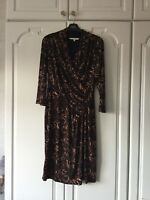Laura Ashley Ladies Womens Size Uk 12 Long Sleeved Crossover Dress Stunning