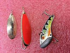 F8 lot of Johnson silver minnow minnows gold with blaze orange and silver