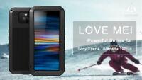LOVE MEI Metall Gorilla Glas Wasserdicht Outdoor Hülle Case Cover f Sony Xperia