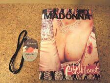 PROMO MADONNA Rebel Heart Japan Tour BOOK CONCERT PROGRAM Press 2016 + VIP Plate
