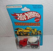 Hot Wheels Work Horses Peterbilt Cement Truck #1169 Nos (Yellow Background)