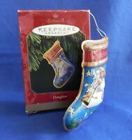 Hallmark Keepsake Daughter Stocking Tin Christmas Holiday Ornament 1997