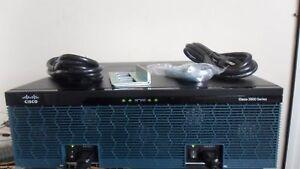 CISCO 3945/K9 3-Port Gigabit ROUTER 3900-SPE150/K9 1G DRAM ios-15.7M4 DUAL Power