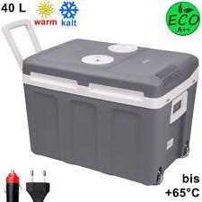 40L Kühlbox 12V 230V Mini-Kühlschrank mit Rollen, Thermoelektrische Warmhaltebox