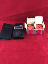 Used 1980 Olivetti LOGOS 9 Printing Calculator + 8 Print Cartridges & Case