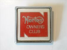 Norton Owners club badge. Motor cycle..motor club.AA RAC.Scooter.