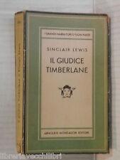 IL GIUDICE TIMBERLANE Sinclair Lewis Mondadori Medusa 206 1948 libro romanzo di