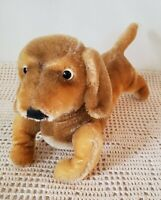 "Vintage STEIFF ""HEXIE"" DACHSHUND DOG, BROWN MOHAIR Ca1968 ORIGINAL Germany Made"