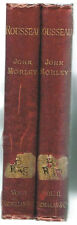 Rousseau by John Morley Complete in 2 Vol.  1891  5th Pr. Rare Antique Book! $