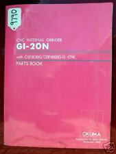 Okuma GI20N CNC Internal Grinder Parts Book GE15-039-R4, Inv 9790