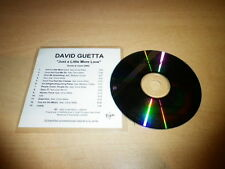DAVID GUETTA - JUST A LITTLE MORE LOVE !!!! RARE CD PROMO!!!FRANCE