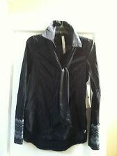 NWT Lululemon Pedal Power Wind Shirt  / Jacket Black Size 4