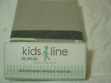 "New Kids Line Bear And Buddies Window Valance 60""x14"" ~ Gray Nip"