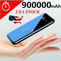 2020 Power Bank 900000mAh Qi Wireless Charger Portable Polymer External Battery