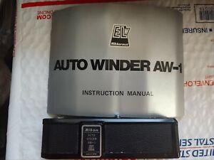 Rare Nikon Auto Winder AW-1 for EL-2 Nikkormat EL-W PARTS REPAIR AS IS