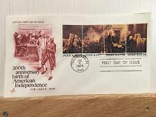 FDC Cachet Lot of 10 200th Anniversary Birth American Independence July 4, 1976