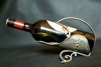 Antique Vintage French Tin Lead Wine Bottle Holder Art Nouveau Hand Crafted