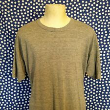 Vintage 1980's blank rayon blend t-shirt XXL triblend heather gray classic tee