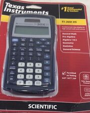 Texas Instruments TI-30X IIS 2-Line Scientific Calculator Black with Blue Accent