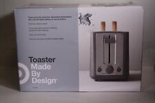 Brand New Made By Design Target 2 Slice Toaster Extra Wide Slot Stainless Steel