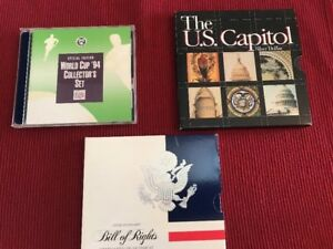 Comm Sets 1994 World Cup $ And .50-USCapitol $-1993 Bill Of Rights Silver .50